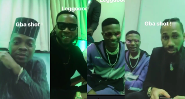 VIDEO:Olamide, Wizkid, Phyno ,Flavour N'abania Just Hanging Out Together