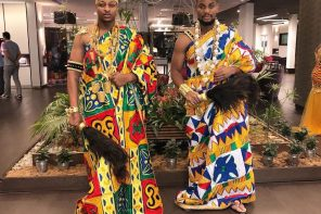 Alex Ekubo and IK Ogbonna slay in traditional Ivorian attires