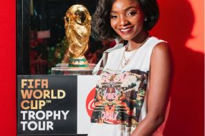 Fans show passion for the FIFA World Cup Trophy