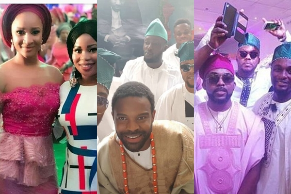 checkout top celebrities at gabriel afolayan�s traditional