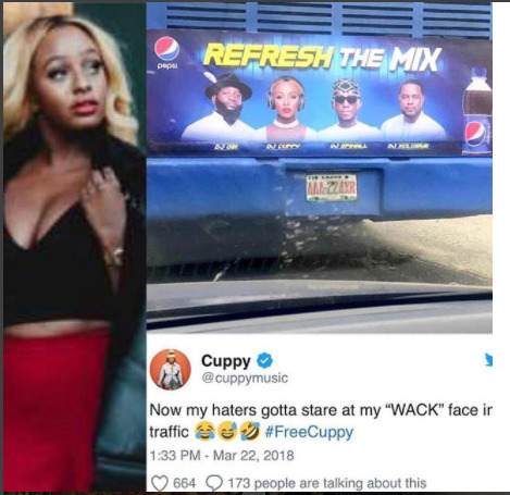 PHOTOS: DJ Cuppy Mocks Comedian Ushbebe After Signing Pepsi