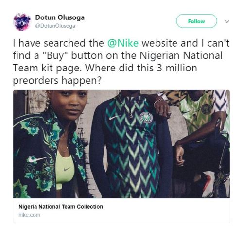 5d203ea77 All Nike Super Eagles Jerseys In Local Markets Are Likely Fake ...