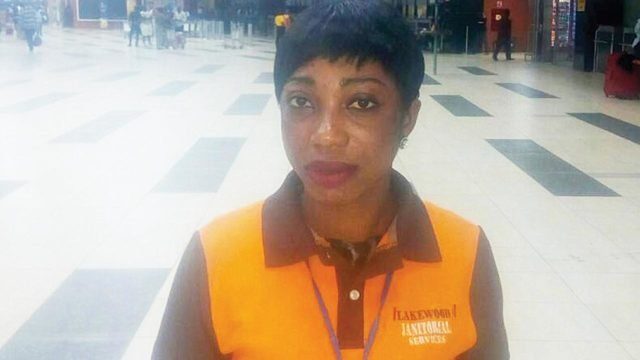 meet the female airport cleaner who returned 6000 she found inside the toilet photo - Awww!!! Meet The Lagos Airport Woman Who Has Found And Returned Over 37 Million Naira While On Duty(VIDEO)