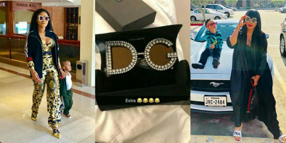 Tonto Dikeh & Toyin Lawani step out in N400,000 Costly D&G sunglasses