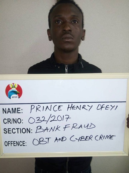 Yahoo Boy Sentenced To Three Years In Prison In Edo State (Photo