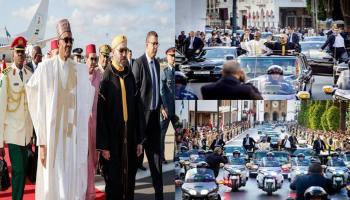 Photos: Moroccans file out to give President Buhari a rousing welcome