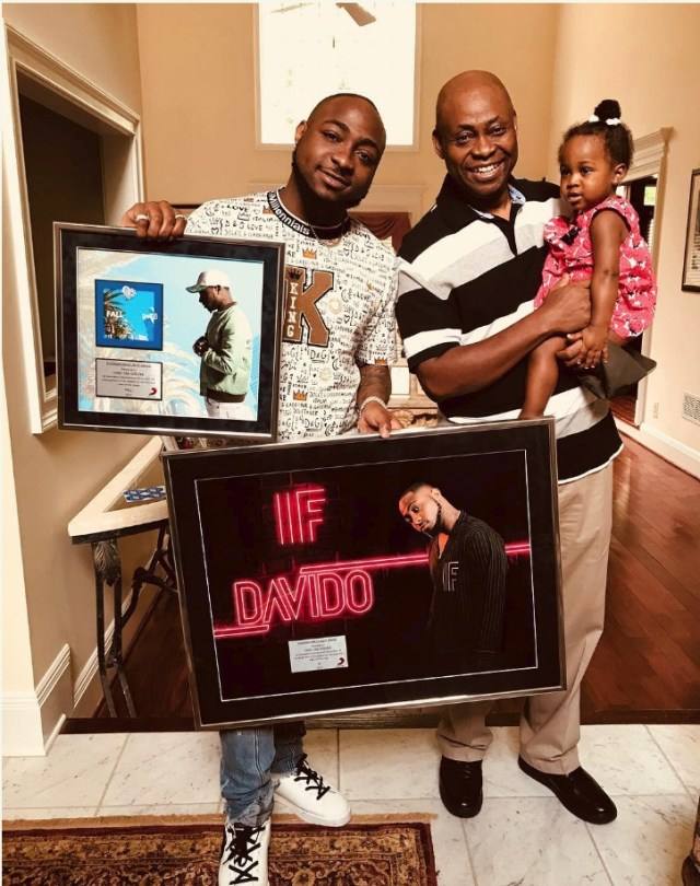 Davido and his father, Deji Adeleke