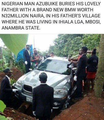 Nigerian Man from Anambra Buries his Father