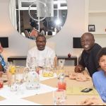 Singer,Seal and son meet The Otedola's in Lagos