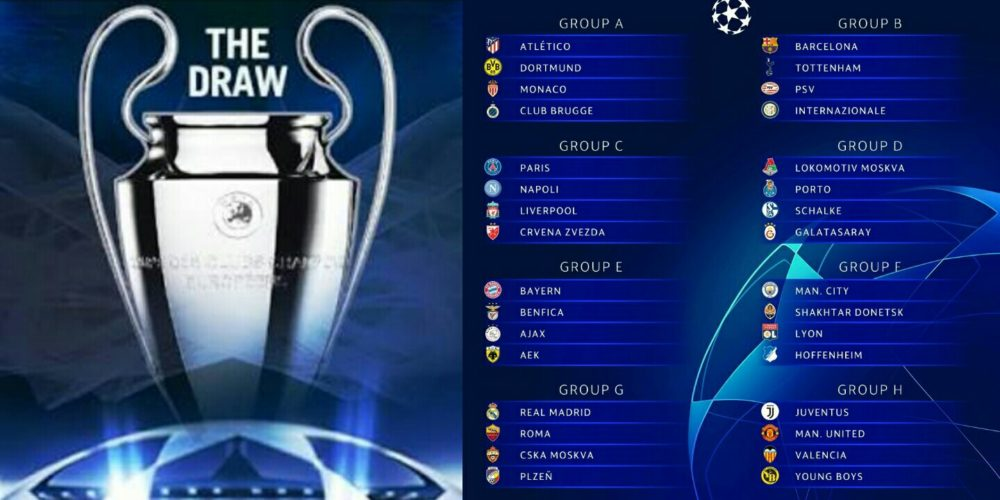 Check Out The 2018 2019 Uefa Champions League Group Stage Draw