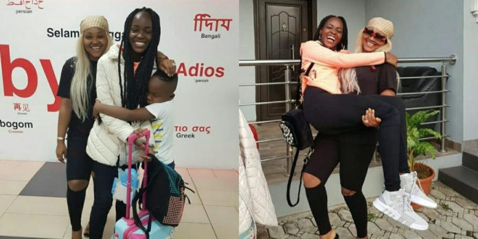 Image result for photos of mercy aigbe and daughter