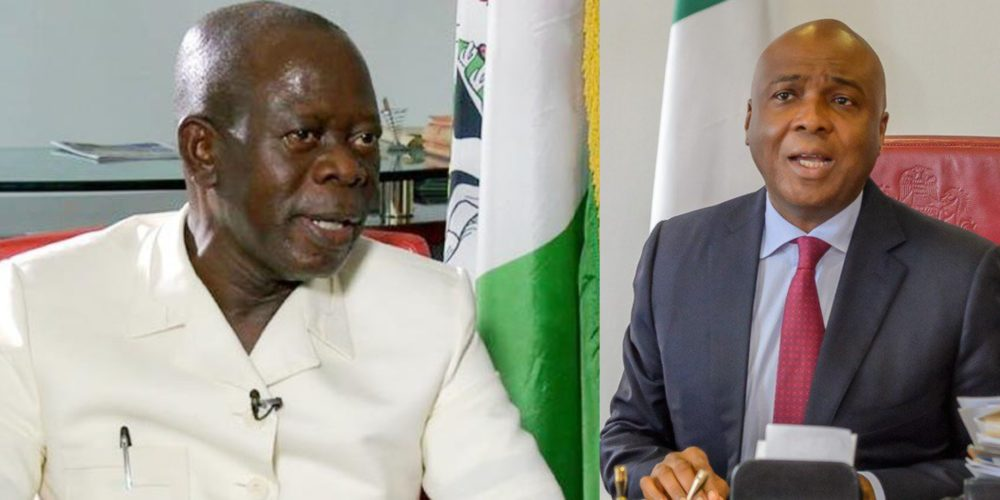 Saraki, 16 Lawmakers Who Dumped APC Have Been Punished: Oshiomole
