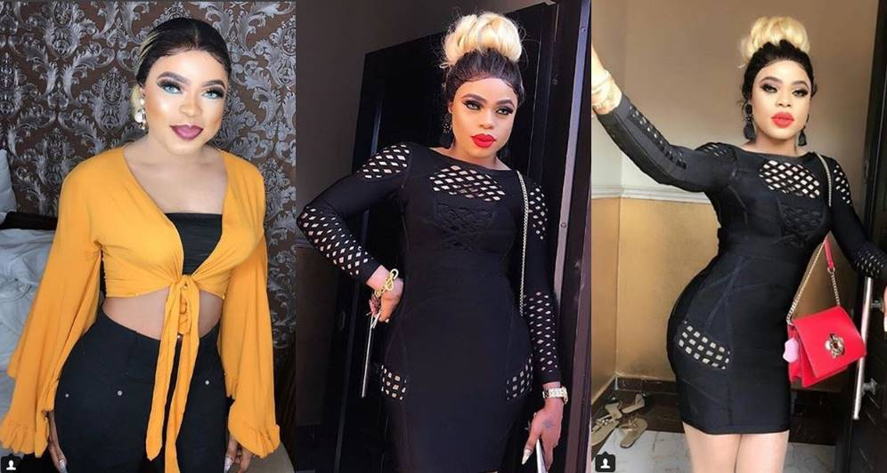 """""""When I step out I call for attention"""" – Bobrisky says as he shows off his curves in figure-hugging dress"""
