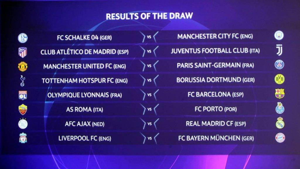 Uefa Champions League Round of 16 draw - Information Nigeria