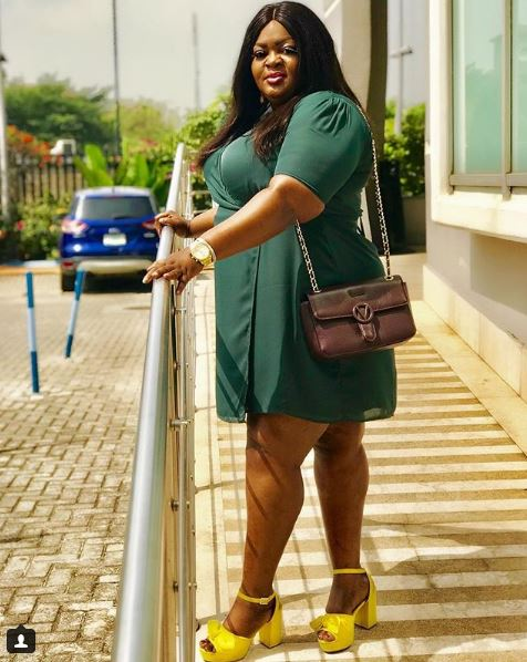 actress eniola badmus looking super chic in wrap dress - Why do you guys constantly call me Ugly??? – Eniola Badmus Asks As She Share Rare Photo