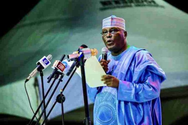 atiku abu 600x400 - Watch Video: Atiku urges Nigerians to vote PDP from bottom to top