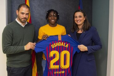 Barcelona Star Asisat Oshoala Resumes Trainning