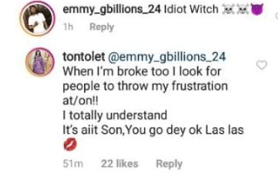1 60 - Tonto Dikeh drags troll who called her a wictch
