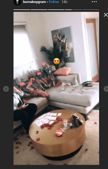 2 9 - Burna Boy shows off his first ever Valentine's day gift
