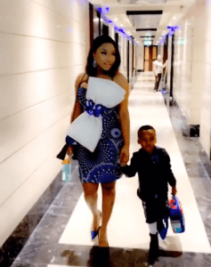 3 18 - He hates when I act sexy – Tonto Dikeh and son King step out in style