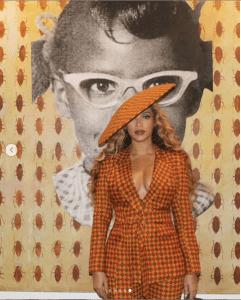 5 3 - Beyonce is stunning in Ankara print suit (photos)