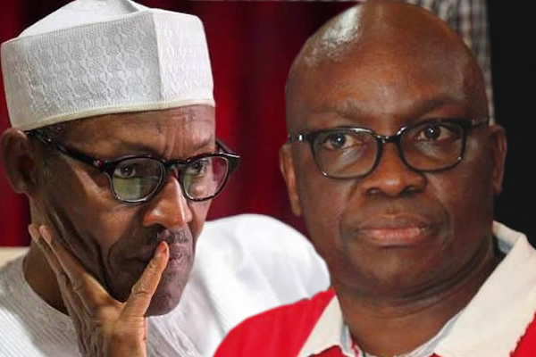 "Buhari Fayose  - Buhari saying he would leave a legacy of ""free, fair and credible elections"", is like Anini or Evans saying they would leave a crime-free legacy for Nigeria"