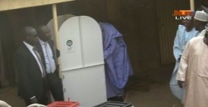D0Eou2 WoAA4Keu - #NigeriaDecides: President Buhari Cast Ballot Early in Daura