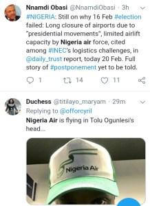 IMG 20190220 184643 - 'WHERE IS NIGERIA AIR?'- NIGERIANS REACT
