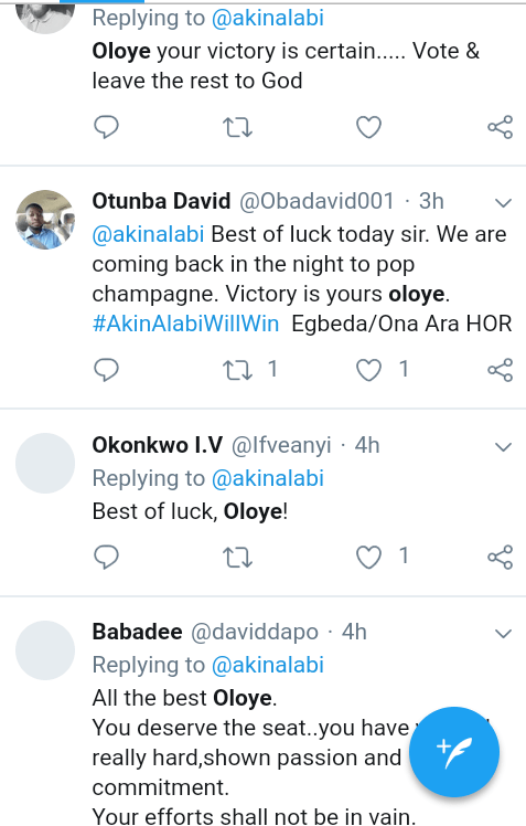 Screenshot 20190223 0904162 - #NigeriaDecides: 'Oloye 2.20 odds to Win' – See What Nigerians are Saying About Akin Alabi