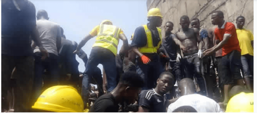 1 47 - Tragedy!!! Lagos school suffers building mishap, many feared dead