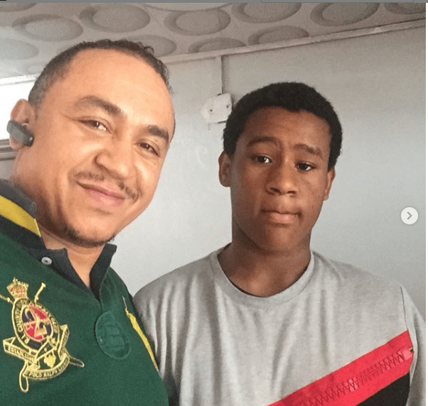 Daddy freeze celebrates son
