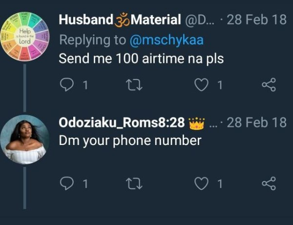 2 - MUST READ: Lady narrates how man who begged her for N100 airtime is set to be her husband
