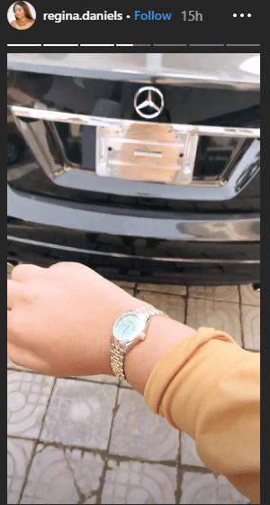 3 26 - [Photos]: Regina Daniels acquires N3.3million Rolex wristwatch