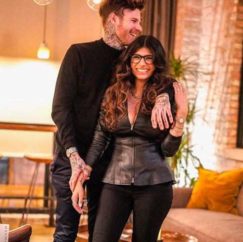 5c8b78dd0eeb7 - See how people reacted to former porn-star Mia Khalifa's engagement to longtime boyfriend