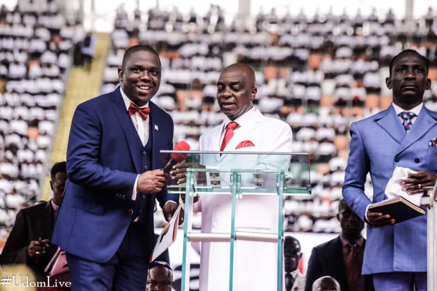 9082450 img20190329wa0048 jpeg338b021a81a50c1e0d19073967a4eb8d - [Pictures] Oyedepo spotted at PDP thanksgiving rally in Uyo