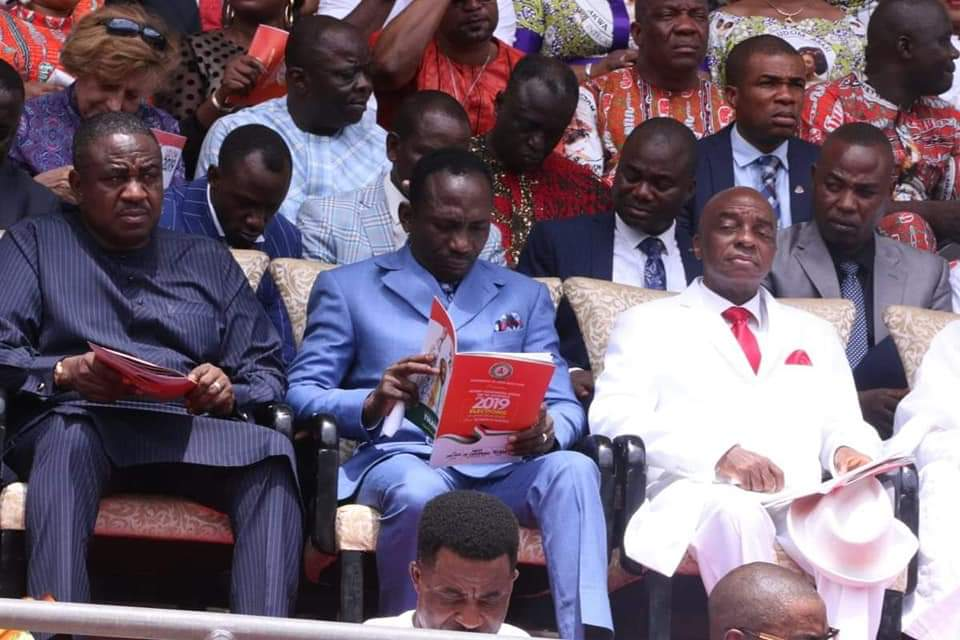 9082767 img20190329wa0039 jpeg7146699d3287769876a37578ceffba47 - [Pictures] Oyedepo spotted at PDP thanksgiving rally in Uyo