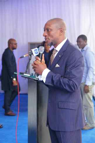 CEO NSE delivering his goodwill message - FIRSTBANK MARCHES ON, BRINGS THE WORLD TO A STANDSTILL