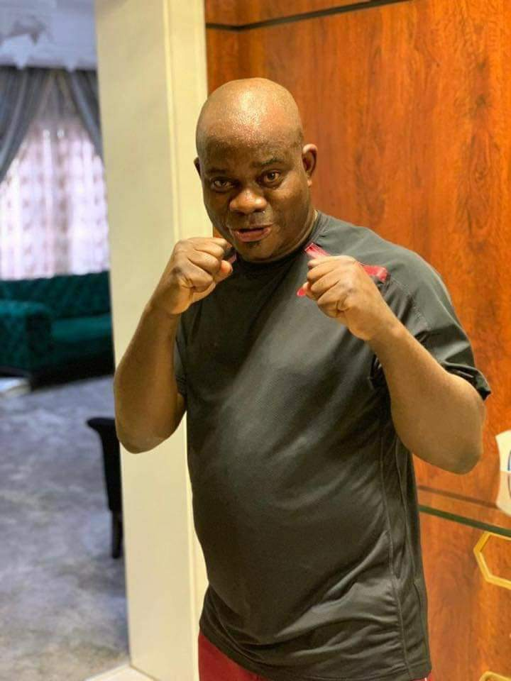 D13DlVtWwAEIks9 - Yahaya Bello prepares for 'boxing' match [See pictures]