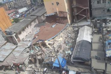 [Photos] Tragic Pictures of Kakawa Street building collapse in Lagos