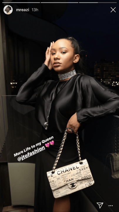 Mr eazi celebrates his woman Temi Otedola