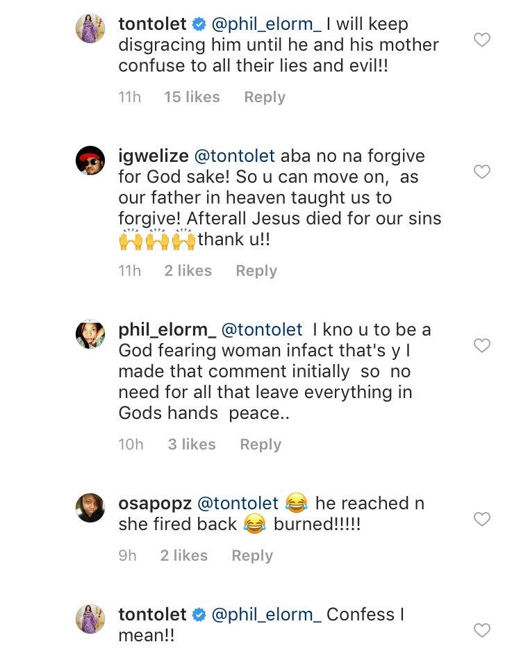 Tonto Dikeh Reveals She Will Keep Disgracing Her Ex-Husband, Olakunle Churchill
