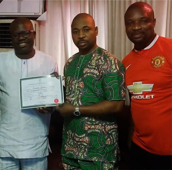 MC Oluomo 560x553 - APC lawmaker presents certificate of return to MC Oluomo [See pictures]