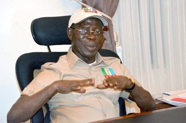 Oshiomhole - Is it true that I look more handsome in suit? Oshiomhole asks