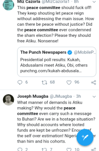 Screenshot 20190301 1743432 - 'Why Won't They Allow Lawyers Shine' – Nigerians React To Peace Committee Meeting With Buhari