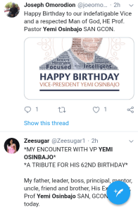 Screenshot 20190308 1207212 - 'Starboy is a year older' – Nigerians celebrate VP Yemi Osinbajo