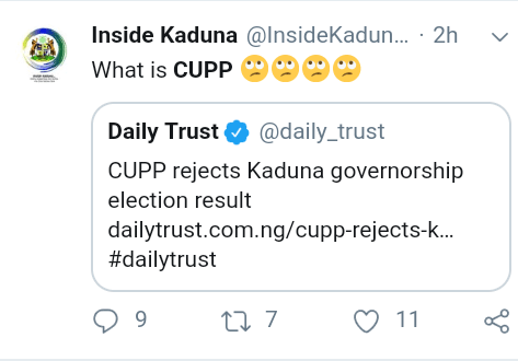 Screenshot 20190312 1049202 - See Nigerians reactions to CUPP's rejection of Kaduna governorship result