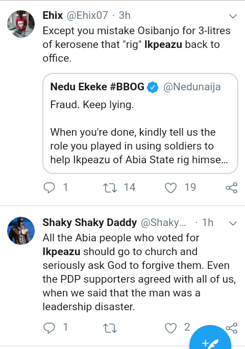 """Screenshot 20190317 1402362 - """"Osinbajo helped PDP win in Abia State"""" – Nigerians react to allegation"""
