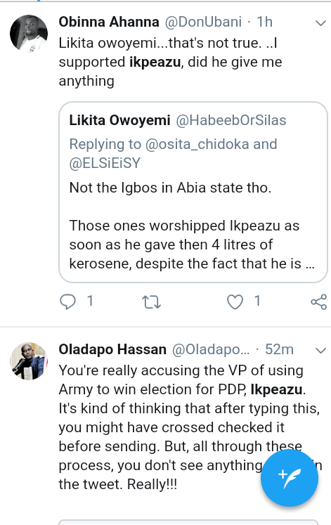 """Screenshot 20190317 1403042 - """"Osinbajo helped PDP win in Abia State"""" – Nigerians react to allegation"""