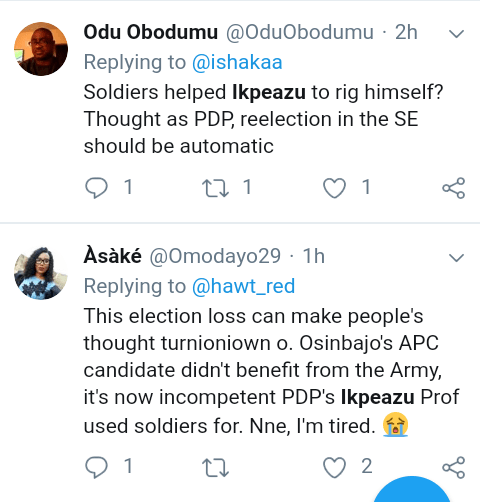 """Screenshot 20190317 1403312 - """"Osinbajo helped PDP win in Abia State"""" – Nigerians react to allegation"""