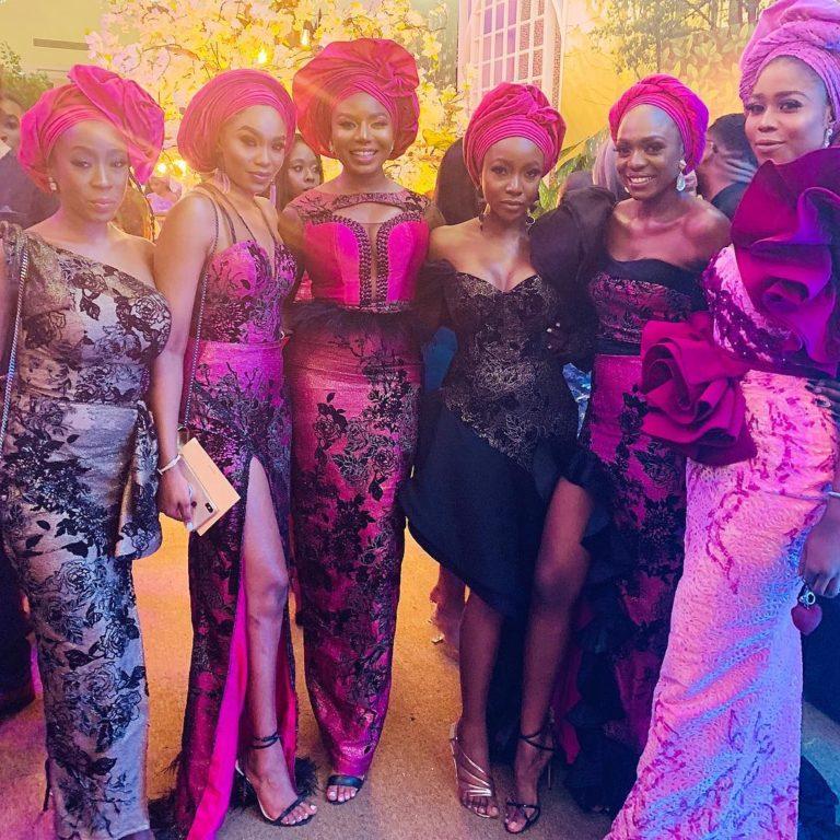 Temidayo Ted Abudu Adebola Makanjuola Traditional Engagement AsoebiBella BellaNaija 36 1 768x768 - [Beautiful Photos]: Asoebi Guests At Media Mogul, Mo Abudu's Daughter's Wedding